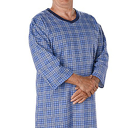 Men's Open Back Flannelette Nightgown