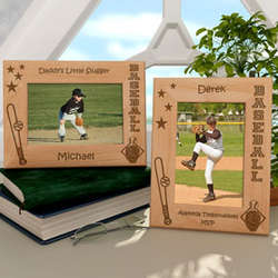 Personalized Baseball Wooden Picture Frame