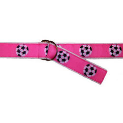 Kids Pink Soccer Ribbon Belt