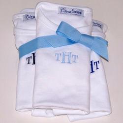 Monogrammed Baby Bodysuits