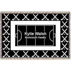 Personalized Field Hockey Afghan
