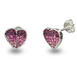 Sparkling Swarovski Crystal Heart Earrings