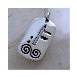 December Silver Celtic Astrology Pendant