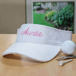 Embroidered Woman's Visor