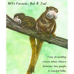 Fuzzy Friendship Personalized Fine Art Print