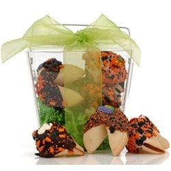 Take Out Pail of 6 Halloween Fortune Cookies