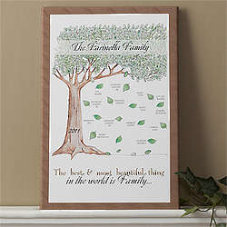Family Tree Personalized Canvas Art