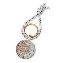 Bronze Custom Map Key Ring