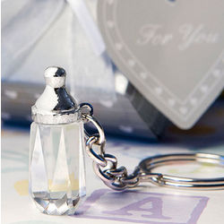 Mini Crystal Baby Bottle Key Chain