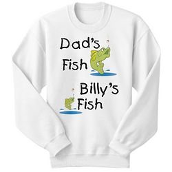 Personalized My Fish Versus Your Fish Youth Sweatshirt