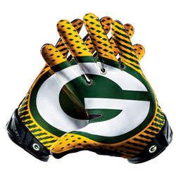 Green Bay Packers Nike Vapor Jet Gloves