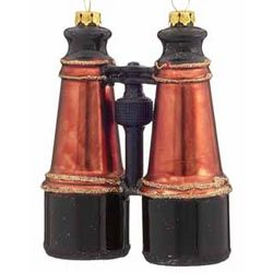 Personalized Binoculars Christmas Ornament