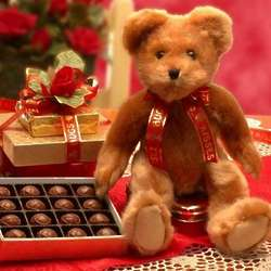 Hugs and Kisses Teddy Bear with Chocolates