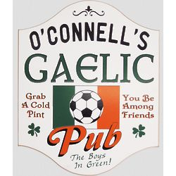 Personalized Gaelic Soccer Pub Sign