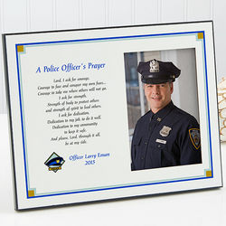 Police Offer's Prayer Personalized Photo Plaque