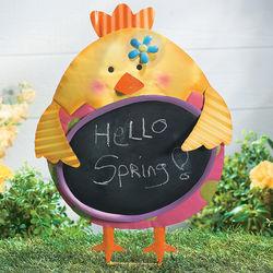 Easter Chick Chalkboard Yard Stake