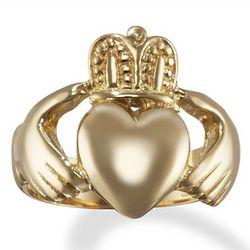 Men's 14 Karat Gold Irish Claddagh Ring