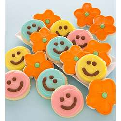 Happy Face and Flower Cookies Gift Box