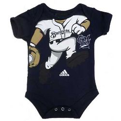 Newborn's Milwaukee Brewers Player Bodysuit