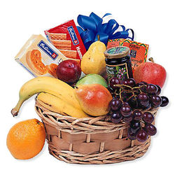 Fruit & Goodies Gift Basket