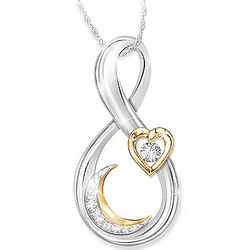 Love You to the Moon and Back Granddaughter Diamond Necklace