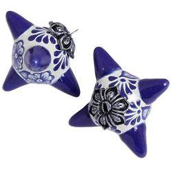 2 Floral Pinatas Ceramic Ornaments