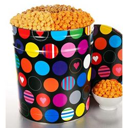 Happy Hearts Popcorn 6-1/2 Gallon Tin