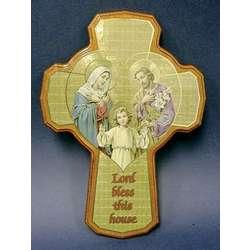 Bless This House Mahogany Wood Cross