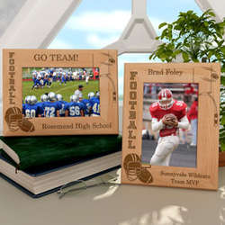 Personalized Football Wooden Picture Frame