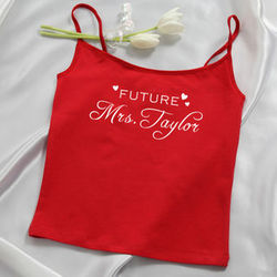 Future Mrs Red Personalized Ladies Camisole