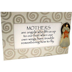Mothers Are Angels Personalized Wooden Plaque
