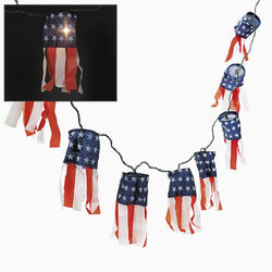 Patriotic Lighted Wind Socks