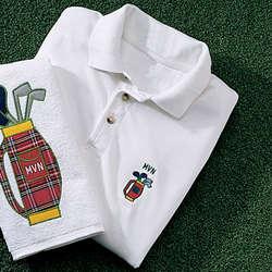 Golf Bag Design Polo Shirt