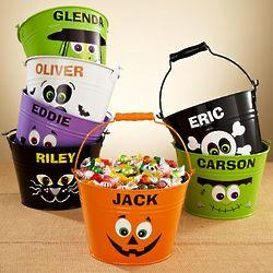 Personalized Halloween Tin Pail