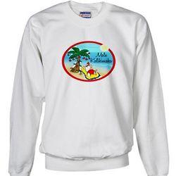 Hawaiian Christmas Lazy Santa Sweatshirt