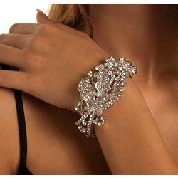 Natural Beauty Metallic Rhinestone Bracelet