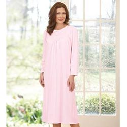 Soft Cotton Long Sleeve Gown
