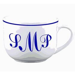 Personalized Monogram Latte Mug