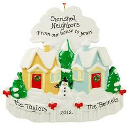 From Our House To Yours Personalized Neighbors Ornament