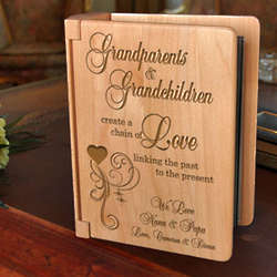Personalized A Chain of Love Wooden Photo Album