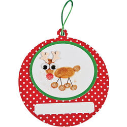Thumbprint Reindeer Ornament Craft Kit