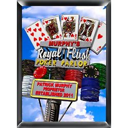 Personalized Marquee Daytime Royal Flush Traditional Sign