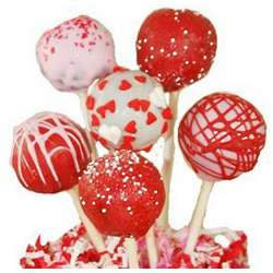 One Dozen Valentine's Day Cake Pops