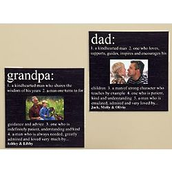 Personalized Dad or Grandpa Definition Photo Frame