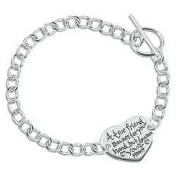 Sentiments Heart Charm Friend Bracelet