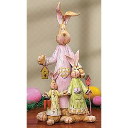 Bunny Mother and Children Tabletopper Decor