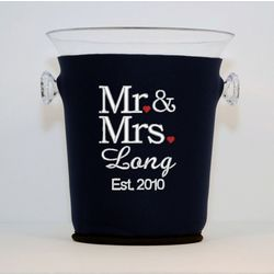 Mr. and Mrs. Champagne Bucket