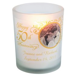 50th Anniversary Custom Photo Votive Holders