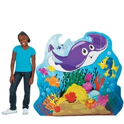 Stingray, Fish, and Coral Standee