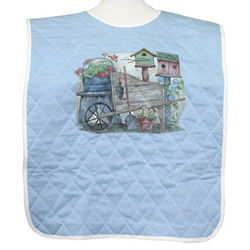 Adult Quilted Bib with Decorative Design